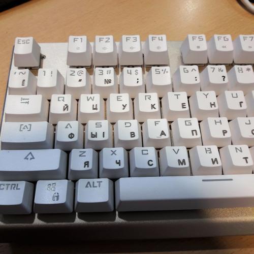 Глубокая гравировка клавиатуры