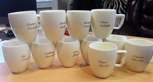 гравировка имени на чашках
