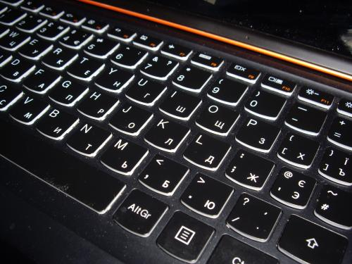 гравировка клавиатуры с подсветкой
